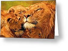 Lion Love #2 Greeting Card