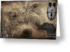 Lion Love Big And Small Greeting Card