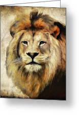 Lion Majesty Greeting Card