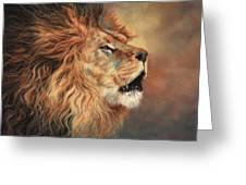 Lion Roar Profile Greeting Card