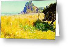 Lion Rock Painted Photo Greeting Card