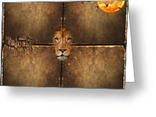 Lion Sun Greeting Card