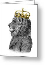 Lion The King Of The Jungle Greeting Card