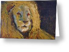Lion Two Greeting Card
