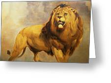 Lion  Greeting Card by William Huggins