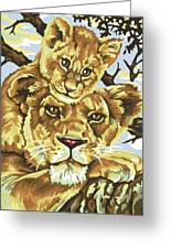 Lioness And Son Greeting Card