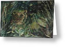 Lioness' Den Greeting Card