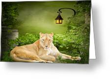 Lioness Dream Greeting Card