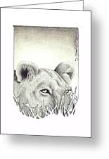 Lioness Rising Greeting Card