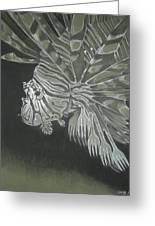 Lionfish With Forks Greeting Card