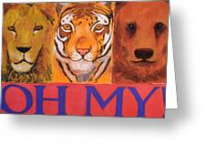 Lions And Tigers And Bears Greeting Card