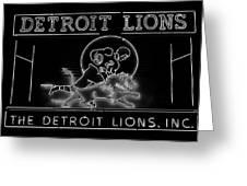 Lions Football Greeting Card