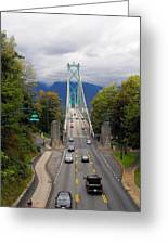 Lion's Gate Bridge Greeting Card