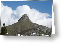 Lion's Head Cape Town Greeting Card