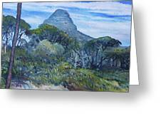 Lions Head Cape Town South Africa 2016 Greeting Card