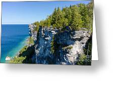 Lions Head Limestone Cliffs Greeting Card