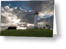Lion's Lighthouse For Sight - 2 Greeting Card