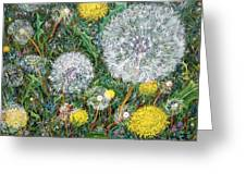 Lions Of The Garden Greeting Card
