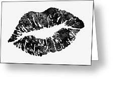 Lips-black Greeting Card