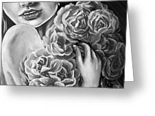 Lips Of Love Black And White Greeting Card
