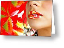 Lips Radiance Greeting Card