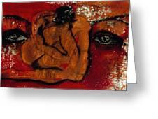 Lipstick Portrait Greeting Card