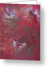Lipstick Red Illusion Greeting Card