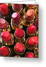 Lipstick Rows Greeting Card