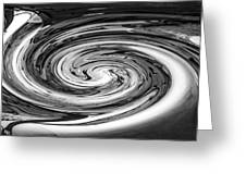 Liquefied Graffiti In Black And White Greeting Card