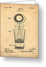 Liquershot Glass Patent 1925 Sepia Greeting Card