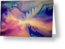 Liquid Abstract Nebula Greeting Card