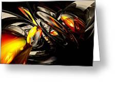 Liquid Chaos Abstract Greeting Card