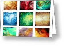 Liquid Color I By Madart Greeting Card
