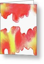 Liquid Fire Watercolor Abstract II Greeting Card