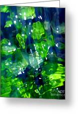 Liquid Leaves Greeting Card