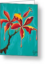 Liquidia Plumeria Greeting Card