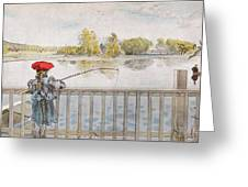 Lisbeth Angling. From A Home By Carl Larsson Greeting Card
