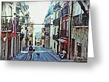 Lisboa Tram Route Greeting Card