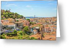 Lisbon Aerial View Greeting Card