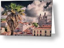Lisbon Cityscape 4 Greeting Card