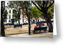 Lisbon High Park Greeting Card