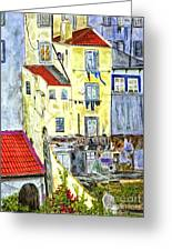 Lisbon Home Painting Greeting Card