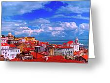 Lisbon Panorama Greeting Card