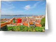 Lisbon Pictures Aerial Greeting Card