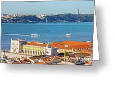 Lisbon Tagus River Skyline Greeting Card