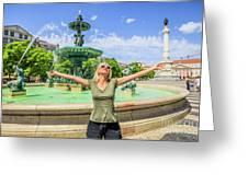 Lisbon Tourism Concept Greeting Card