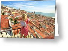 Lisbon Tourist Viewpoint Greeting Card