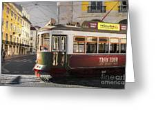 Lisbon Tram, Portugal Greeting Card