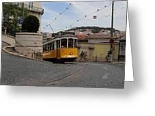 Lisbon Trolley 10 Greeting Card