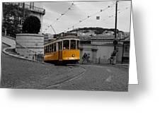 Lisbon Trolley 10c Greeting Card